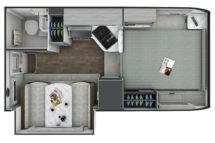 2021 Lance 855S Floor Plan