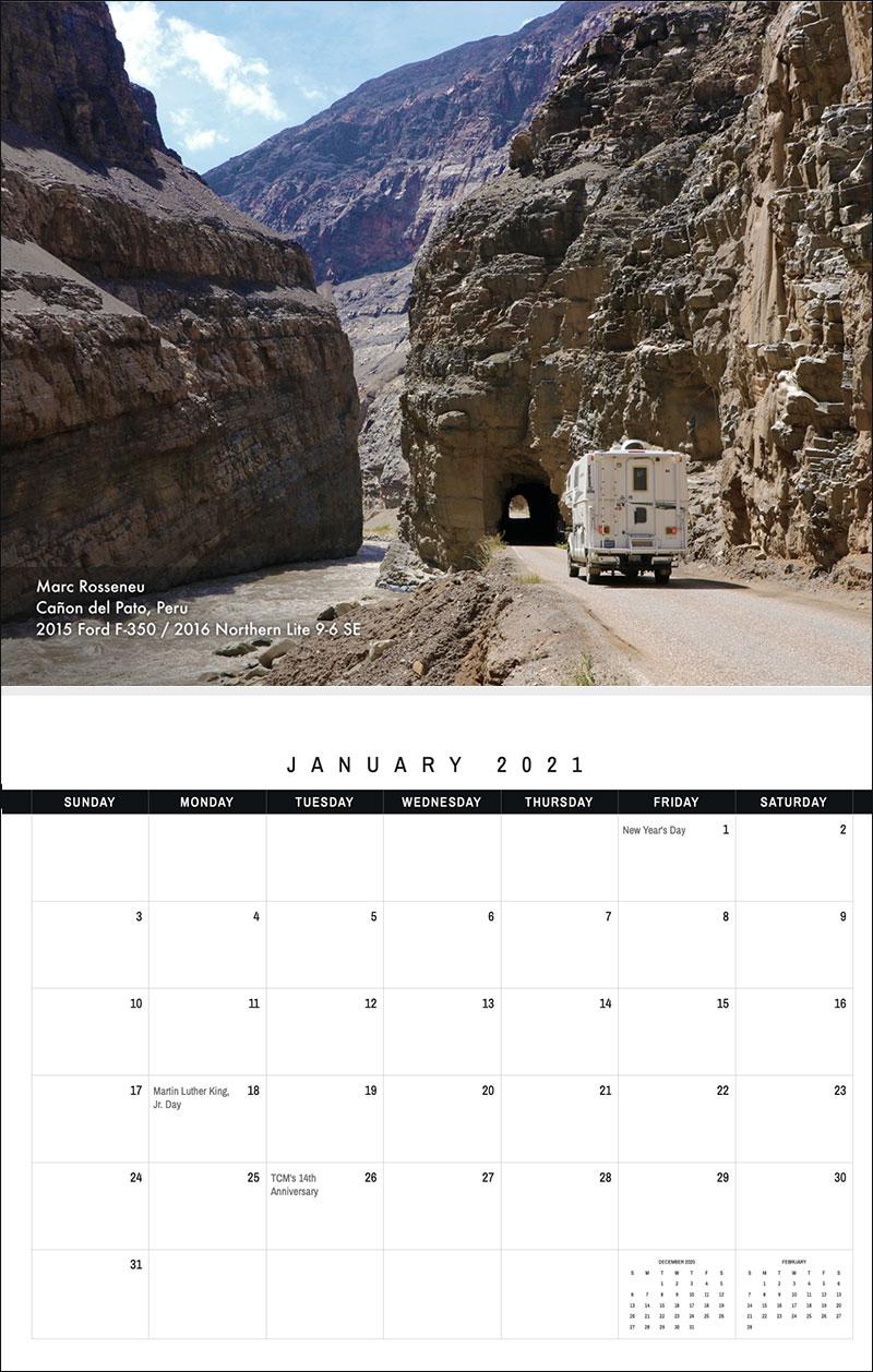 2021 TCM Calendar 1 January