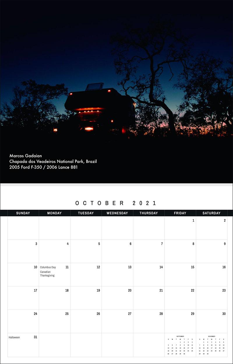 2021 TCM Calendar 10 October