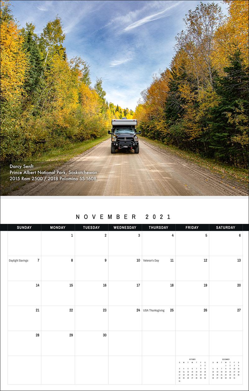 2021 TCM Calendar 11 November