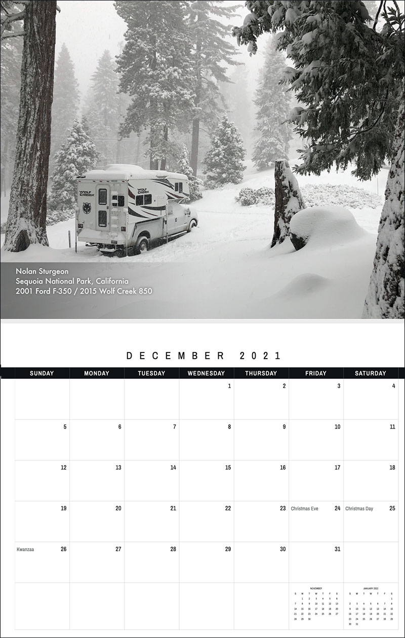 2021 TCM Calendar 12 December