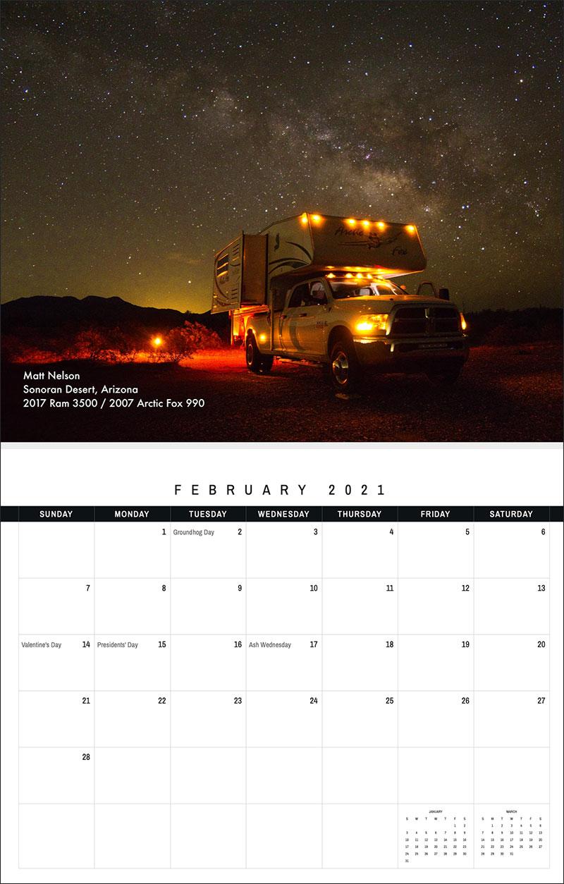 2021 TCM Calendar 2 February