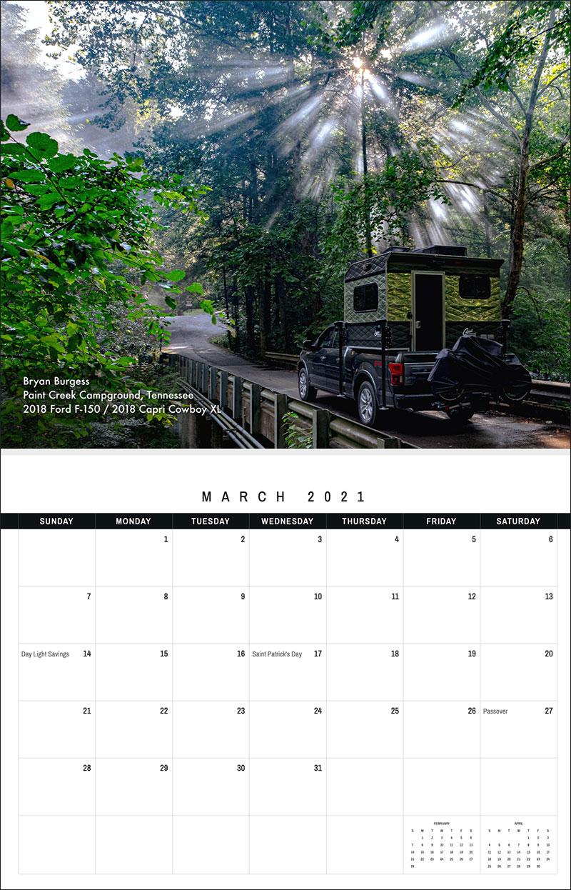 2021 TCM Calendar 3 March