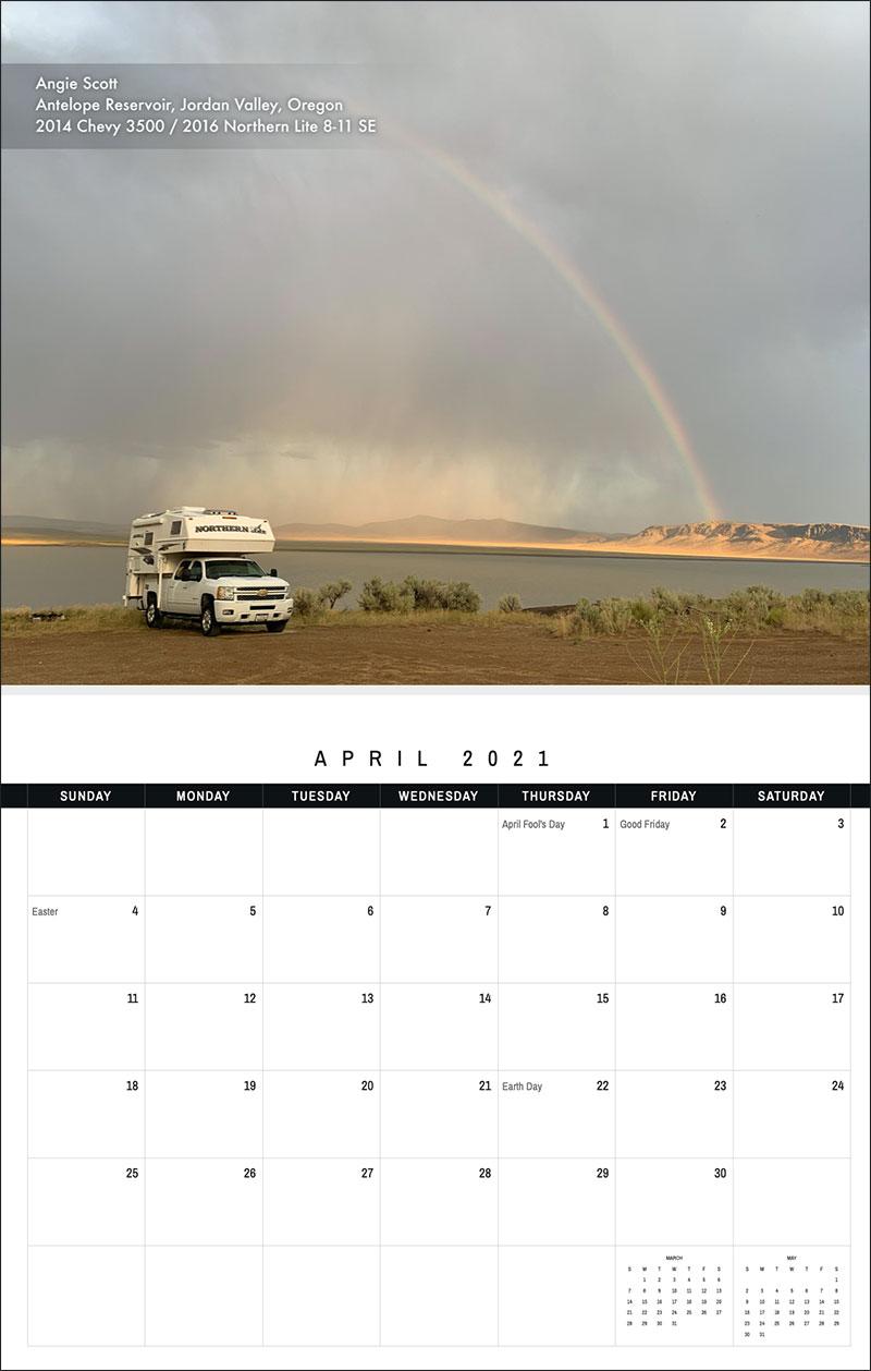 2021 TCM Calendar 4 April