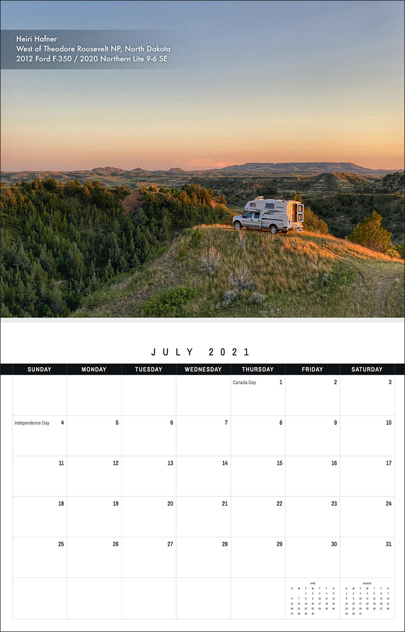 2021 TCM Calendar 7 July