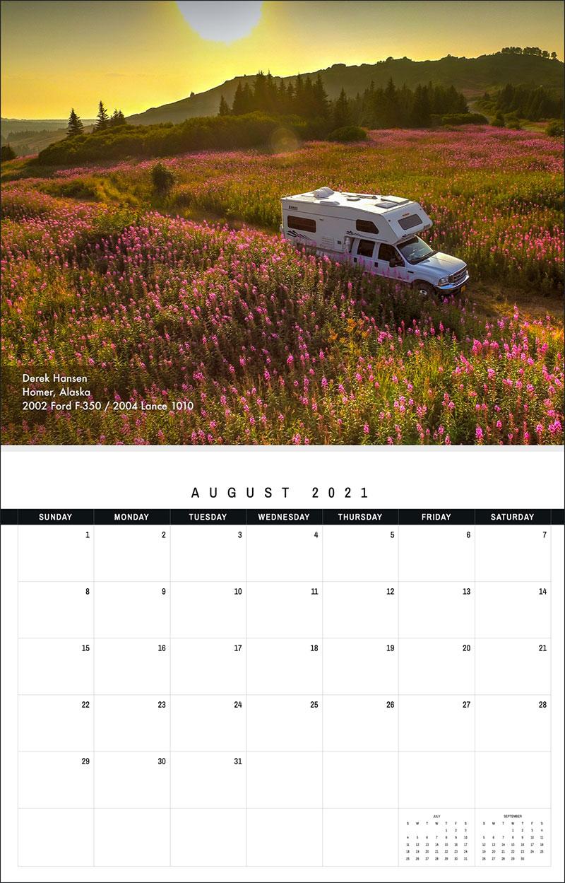 2021 TCM Calendar 8 August