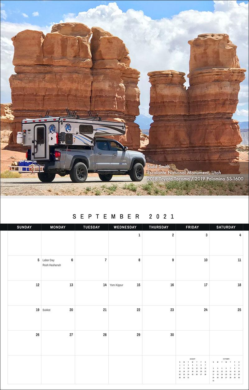 2021 TCM Calendar 9 September