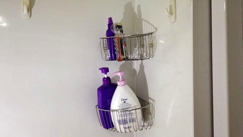 RV Bathroom Caddy With Items