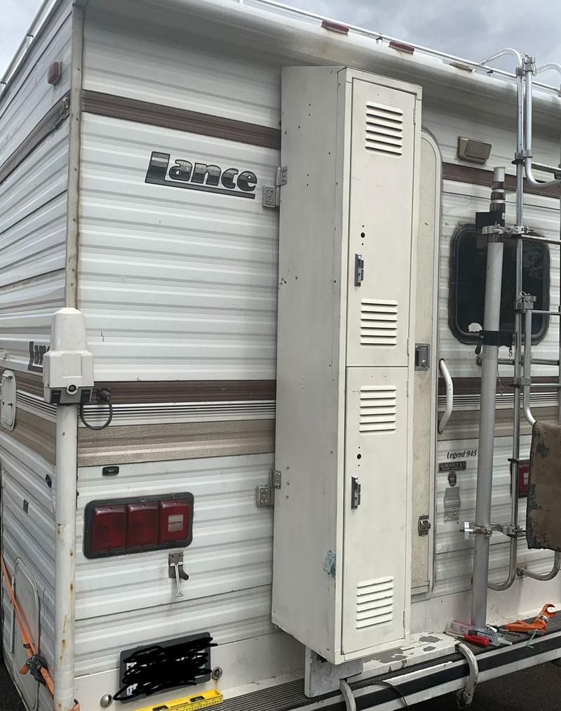 Removable Gym Locker Storage 2