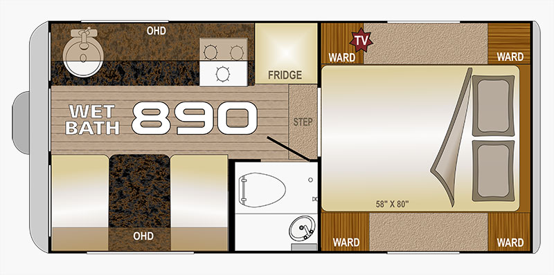 Wolf Creek 890 Floor Plan