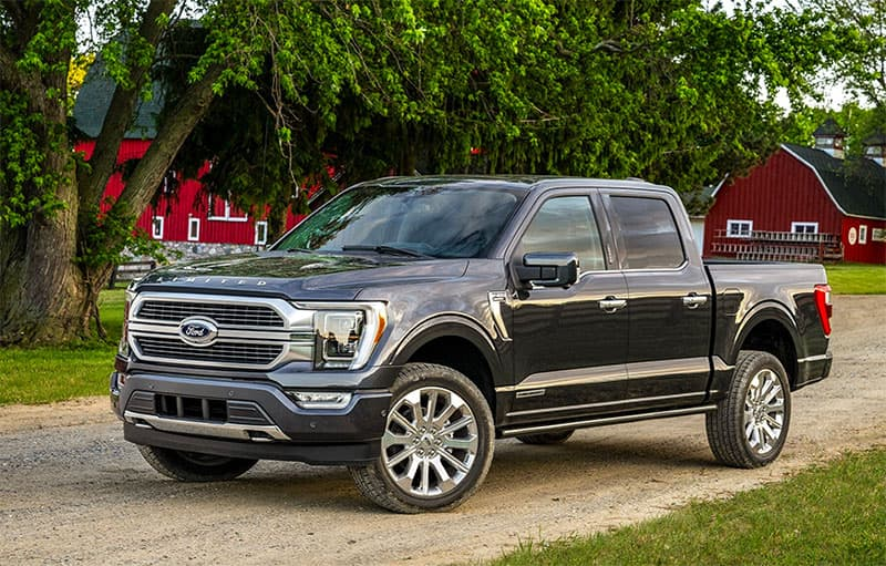 2021 Ford F-150 in blue