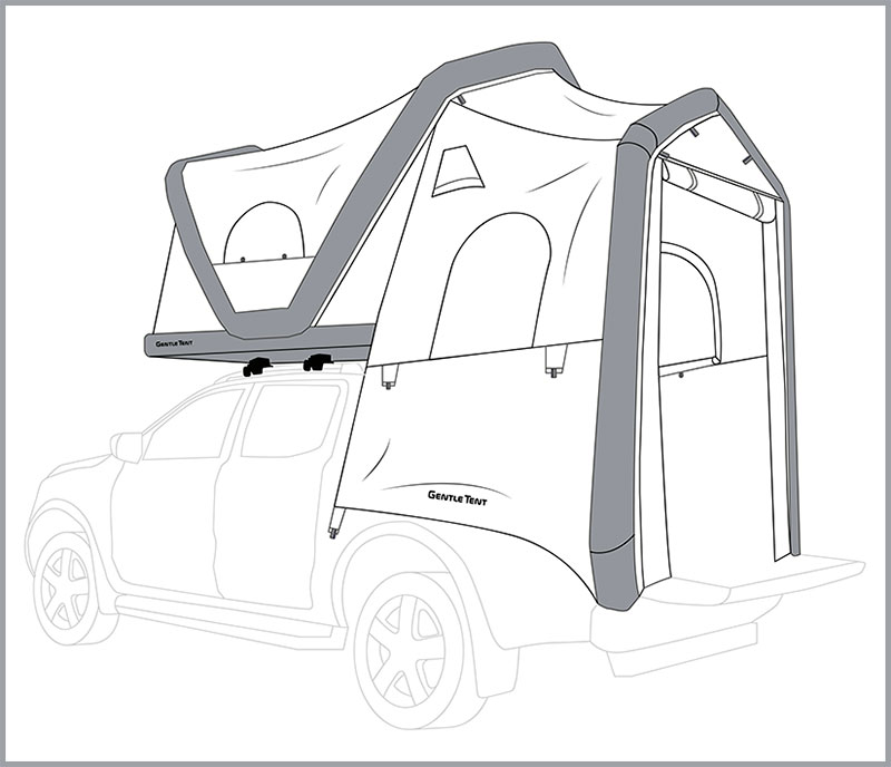 Mitsubishi Inflatable Camper Drawing