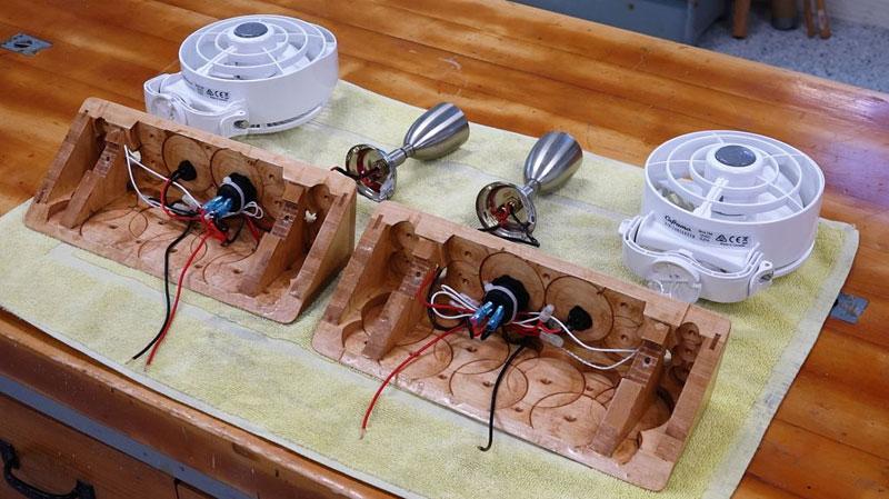 RV Light USB Fans Construction