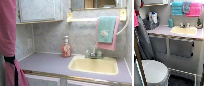 Bathroom Renovation Camper Before And After