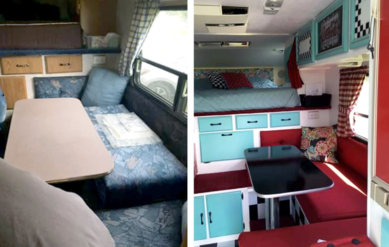 Before And After Main Area Camper
