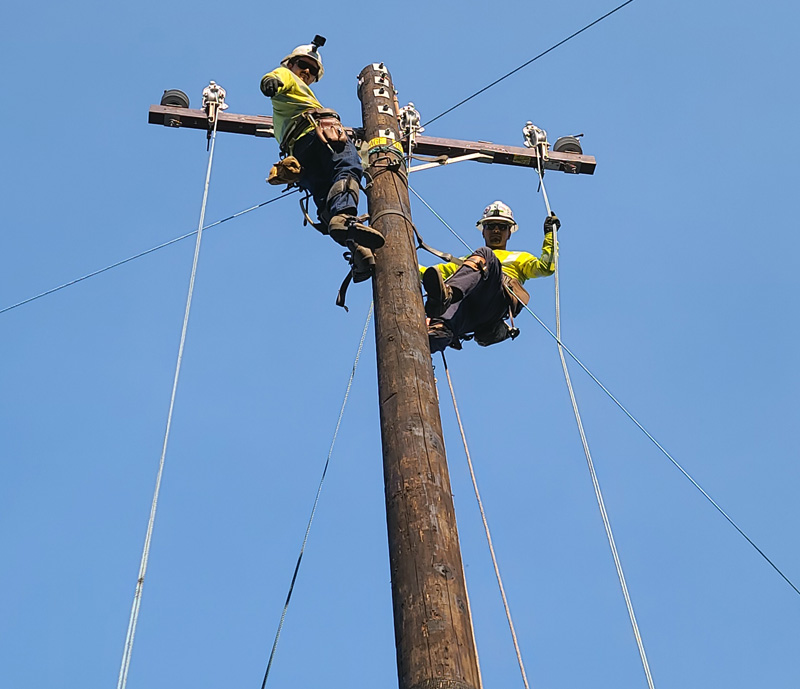Buddy Cam Working An Electrical Pole