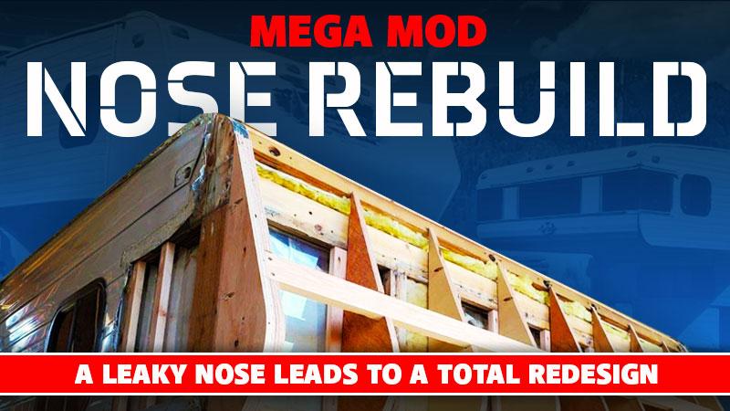 Truck Camper Nose Rebuild