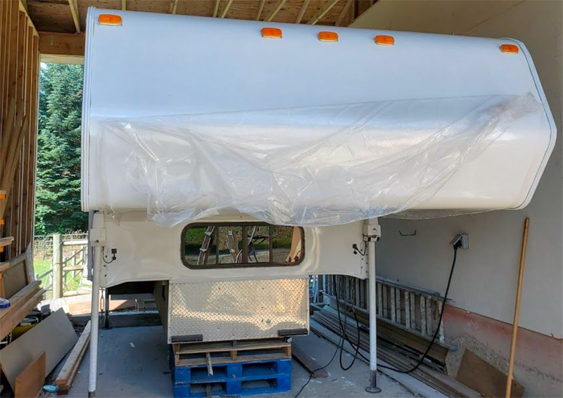 Camper Nose Restoration protective film off filon