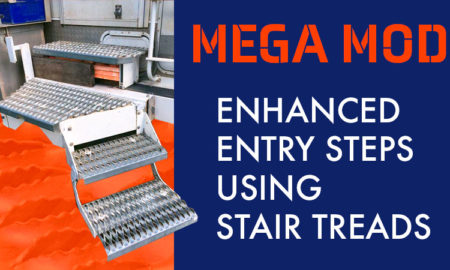 Enhanced Camper Steps with Stair Treads