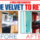 Camper Makeover Blue Velvet to Retro