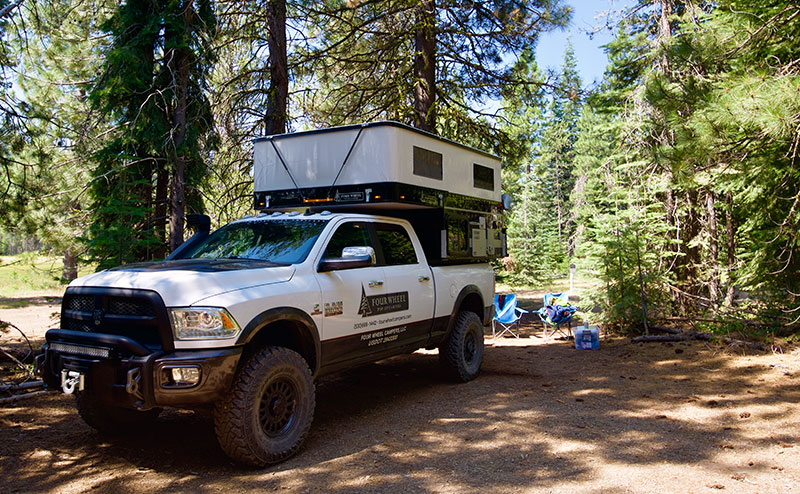 National Forest Shaded Campsite