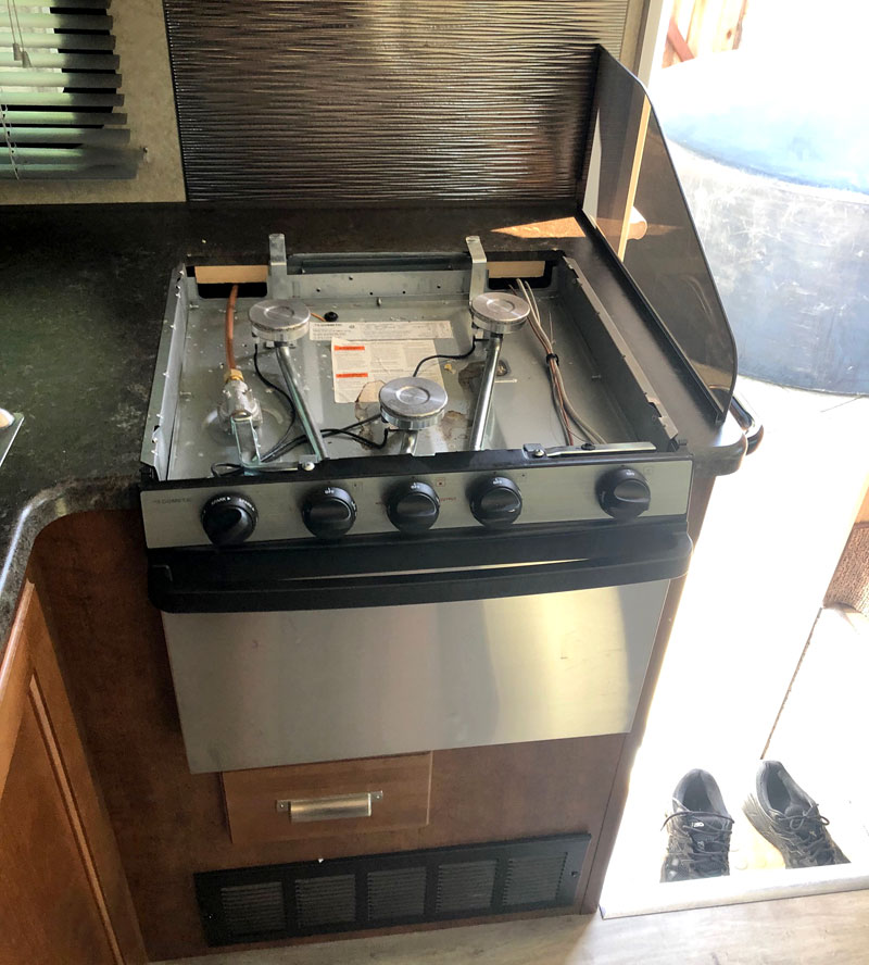 Propane Stove Apart Before Induction Cooktop Convection