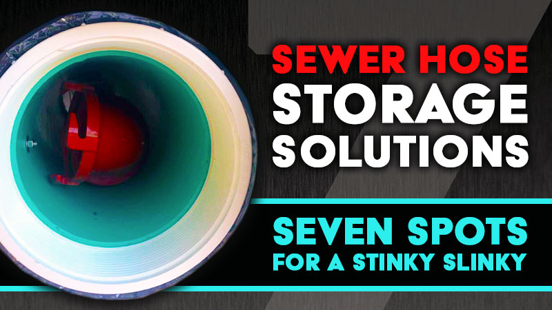 RV sewer hose storage solutions