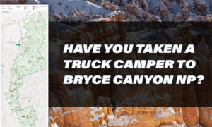 Truck Camping Bryce Question