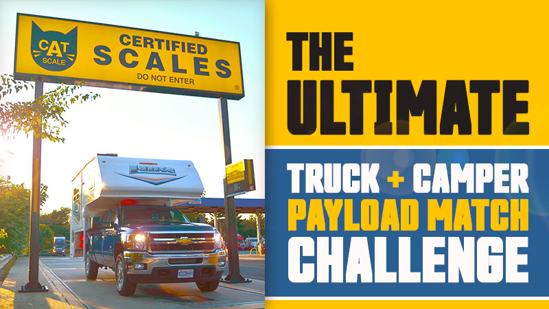 Truck and camper payload match challenge