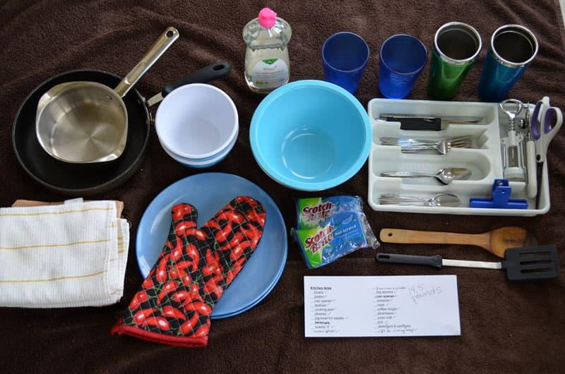 Kitchen Items Weighed