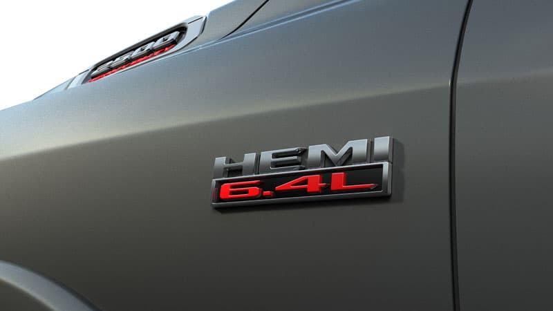 2021 Ram Heavy Duty 6 4 Liter HEMI Badge