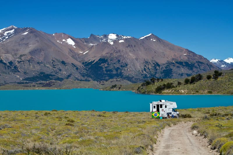 Camp Parque Nacional Perito Moreno Patagonia Argentina