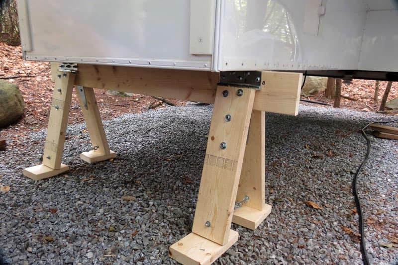 Camper Sawhorse Support Modification