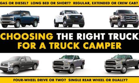 Choosing Right Truck For Truck Camper