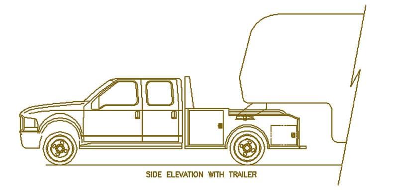Custom Truck Drawing Side Elevation