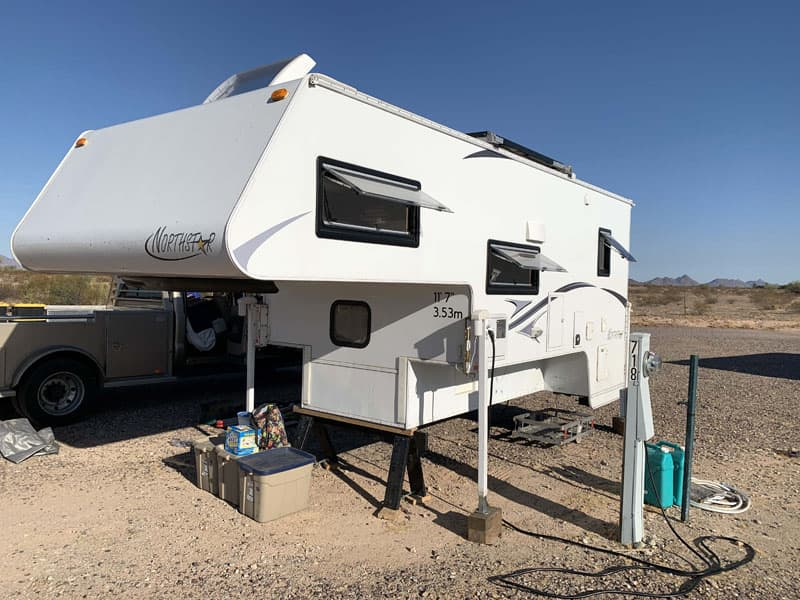 Gila Bend Campsite With Northstar Truck Camper