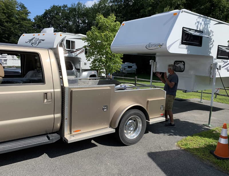 Loading The Camper For The First Time At Truck Camper Warehouse