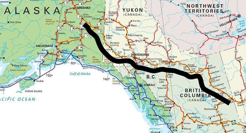 Routes To Alaska Map 1