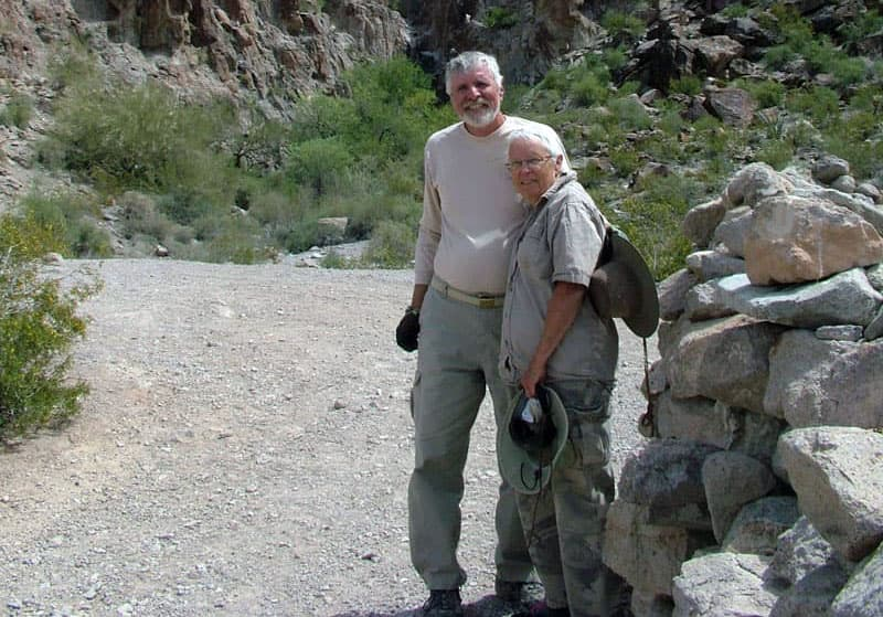 Ted and Jan at Dripping Springs in Arizona