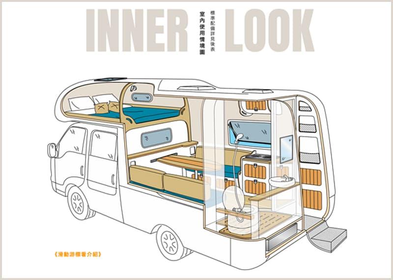 Three Maker Camper Inner Look