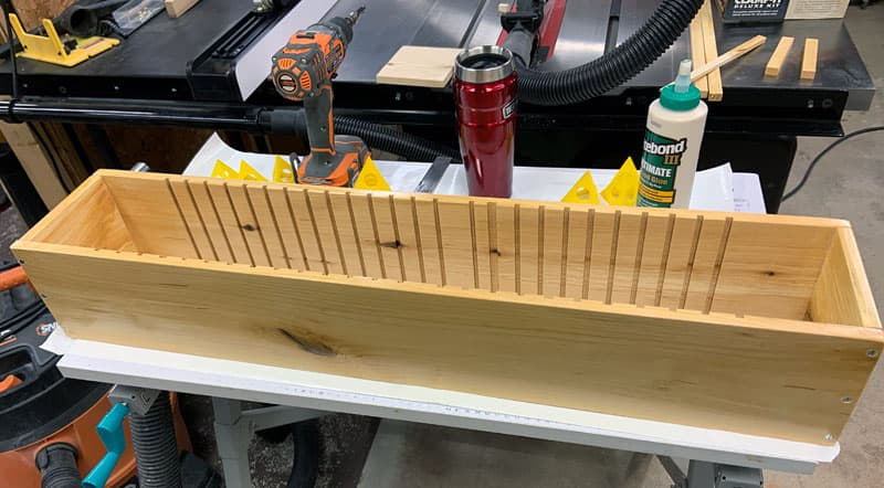 Shoe Case Being Made