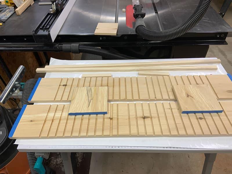 Shoe Case Wood Pieces Cut