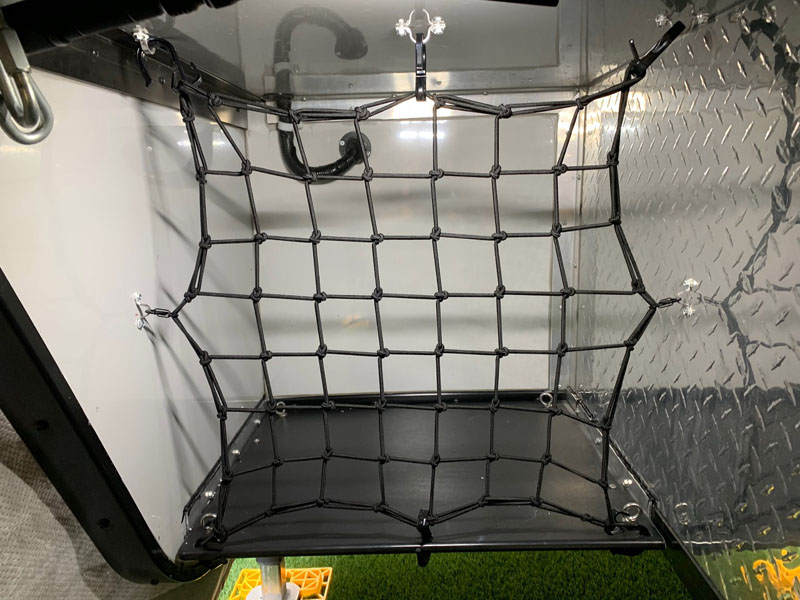 Storage In Overhang Netting No Tote