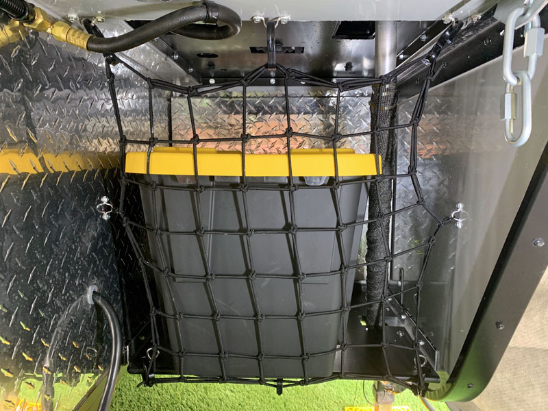 Storage In Overhang Netting Tote