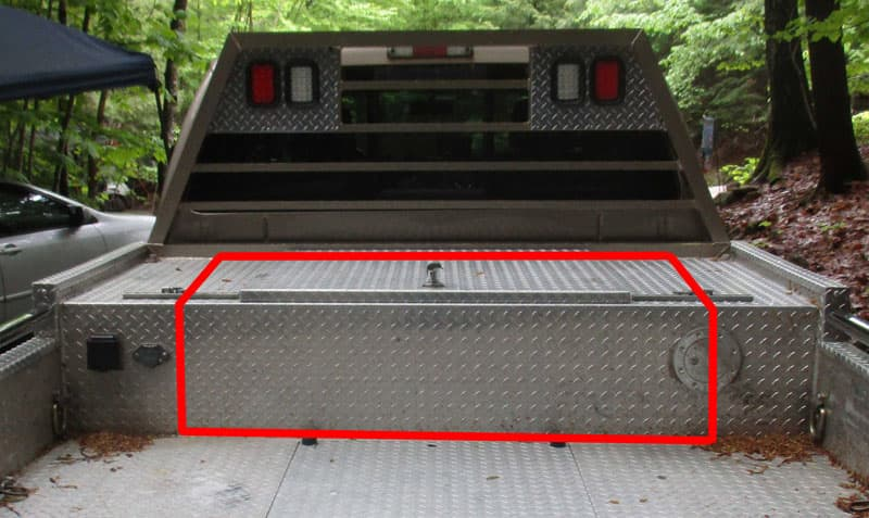 Truck Bed Cut Lines Marked