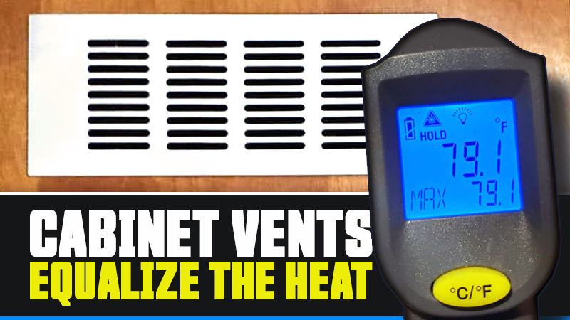 Cabinet Vents to Equalize the Heat In RV Cabinets