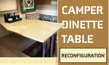 Bigfoot truck camper dinette table change