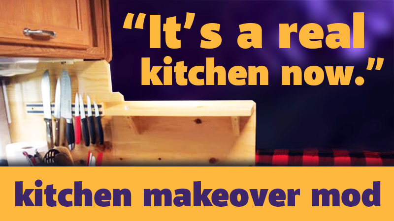 Camper Kitchen Makeover
