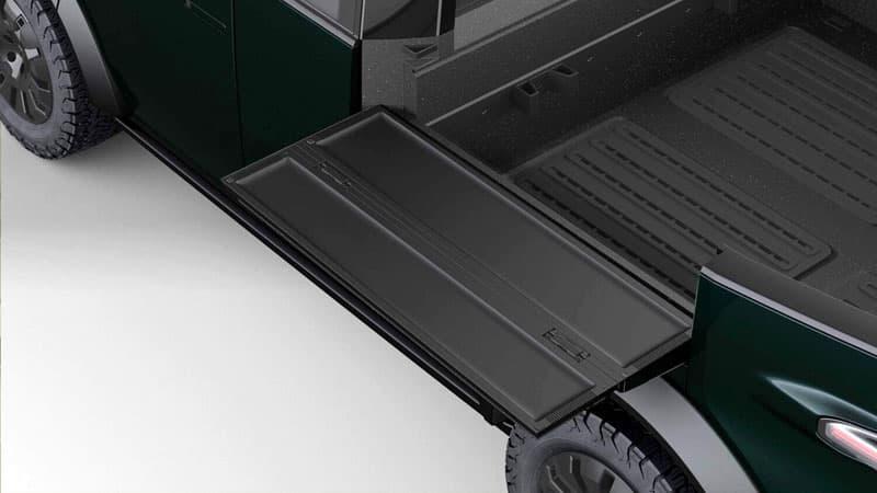 Canoo Side Fold Down Panel