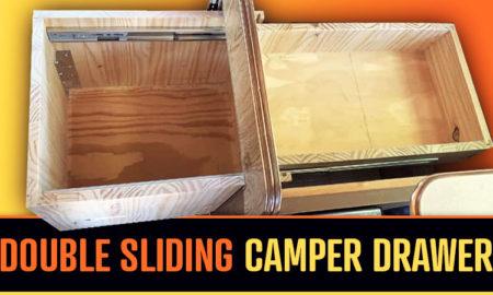 Double Sliding Truck Camper Drawer